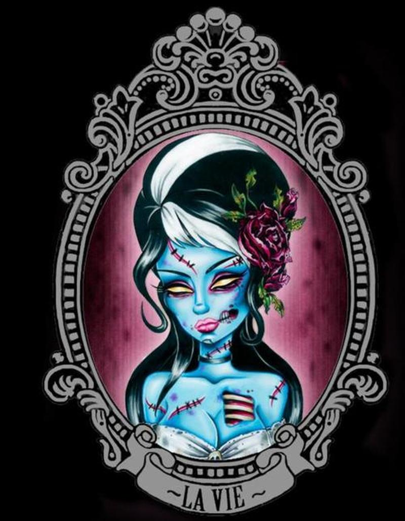 Zombie girl tattoo picture