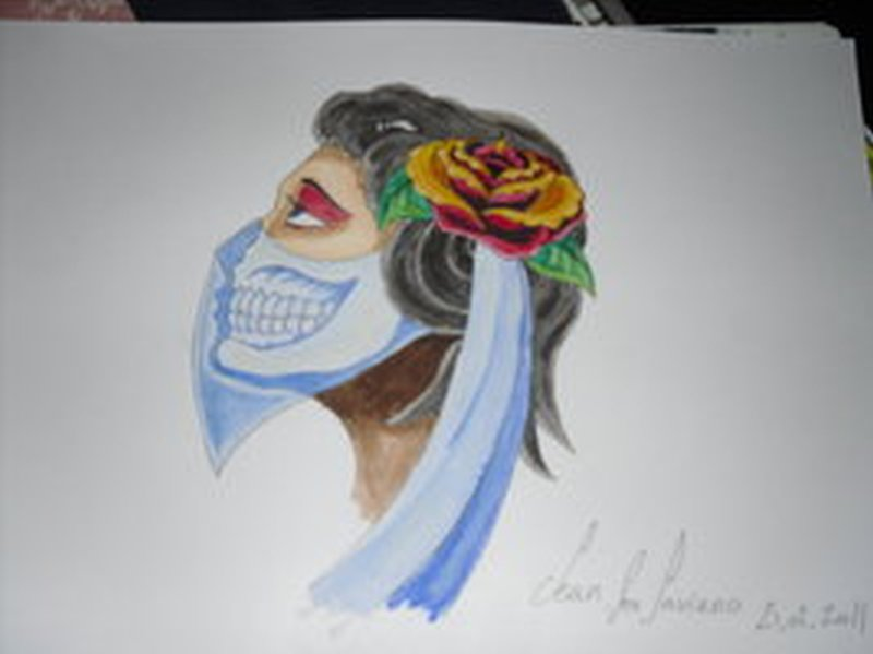 Zombie gypsy tattoo design