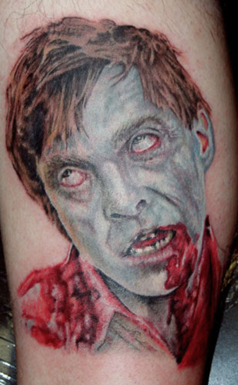 Zombie horror tattoo design 2
