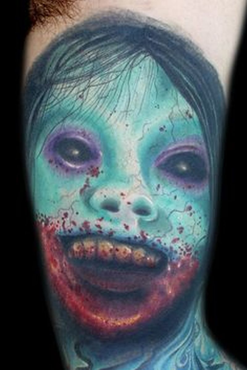 Zombie horror tattoo design 4