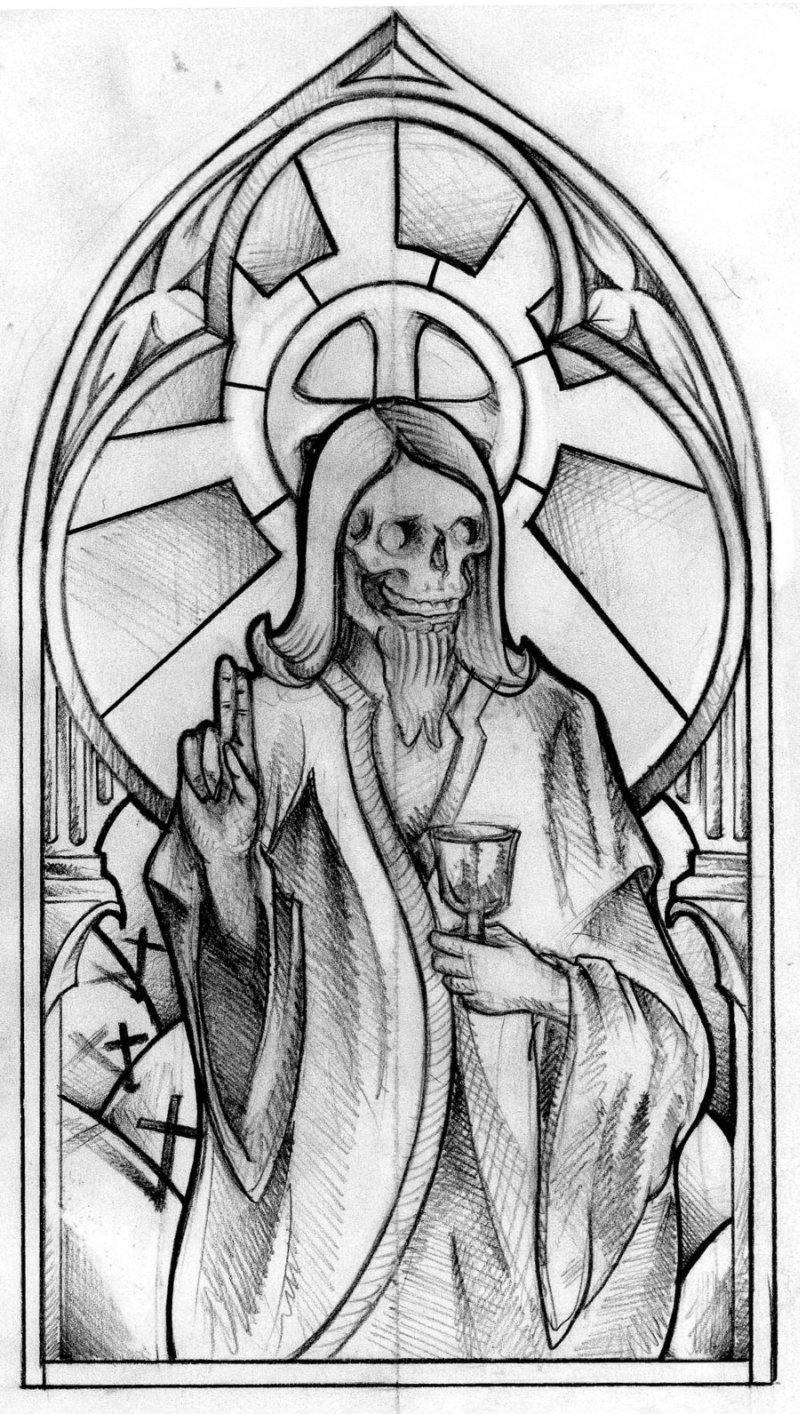 Zombie jesus tattoo design