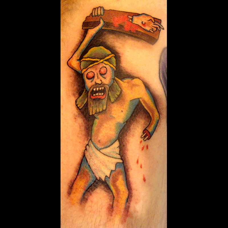 Zombie jesus tattoo image