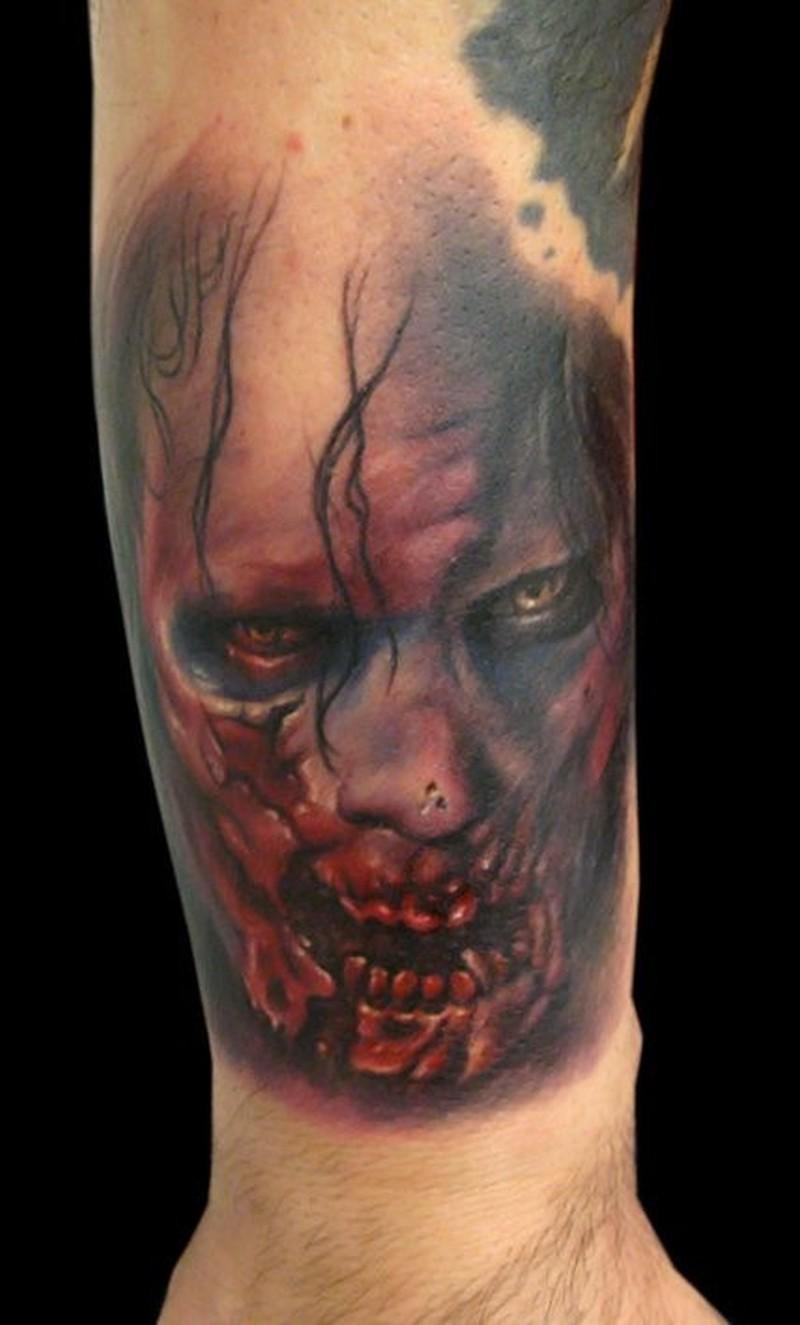 Zombie tattoo on arm
