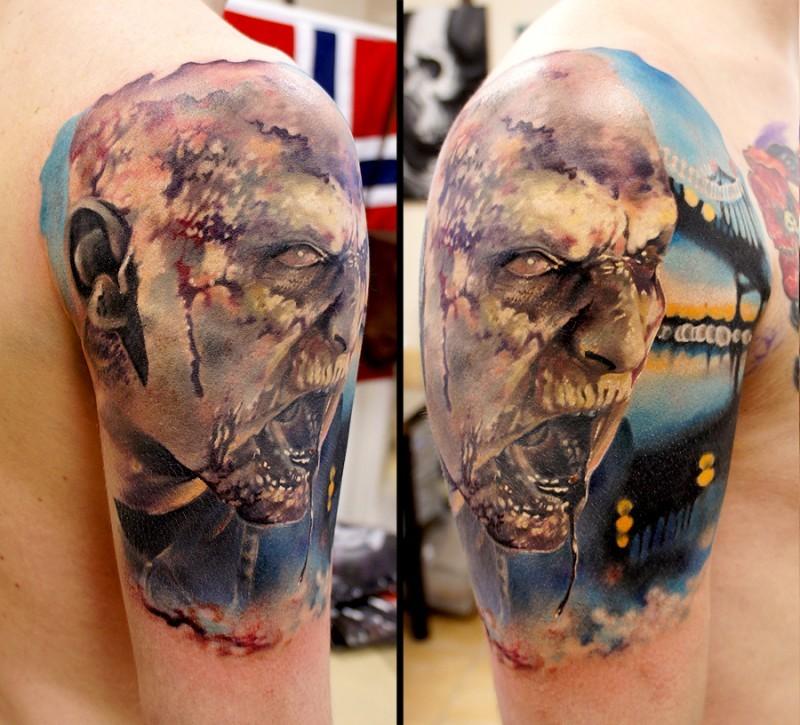 Zombie tattoo tattoo on the hand