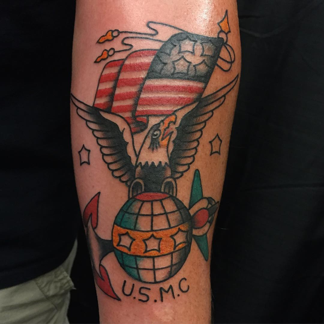 American Traditional USMC Tattoo Idea