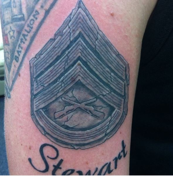 Marine Corps Weaponry Tattoo Idea for Men