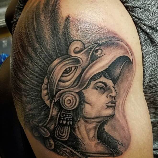 Headdress Warrior Woman Shoulder Piece
