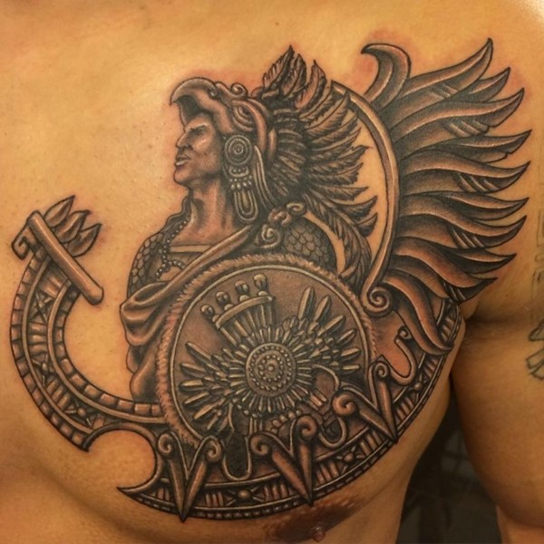 Left Chest Feathered Warrior Piece