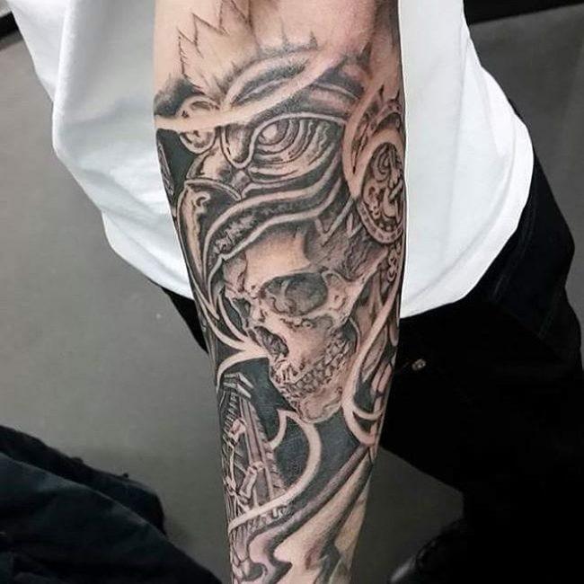 Aztec Skull Design