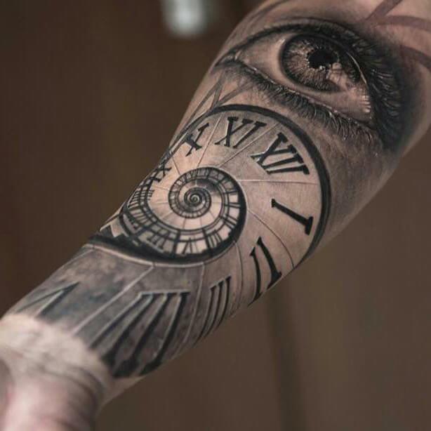 Spiral Clock Seeing Eye Piece