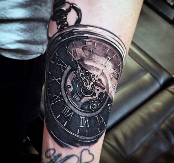 Transitional Galactic Forearm Clock Piece