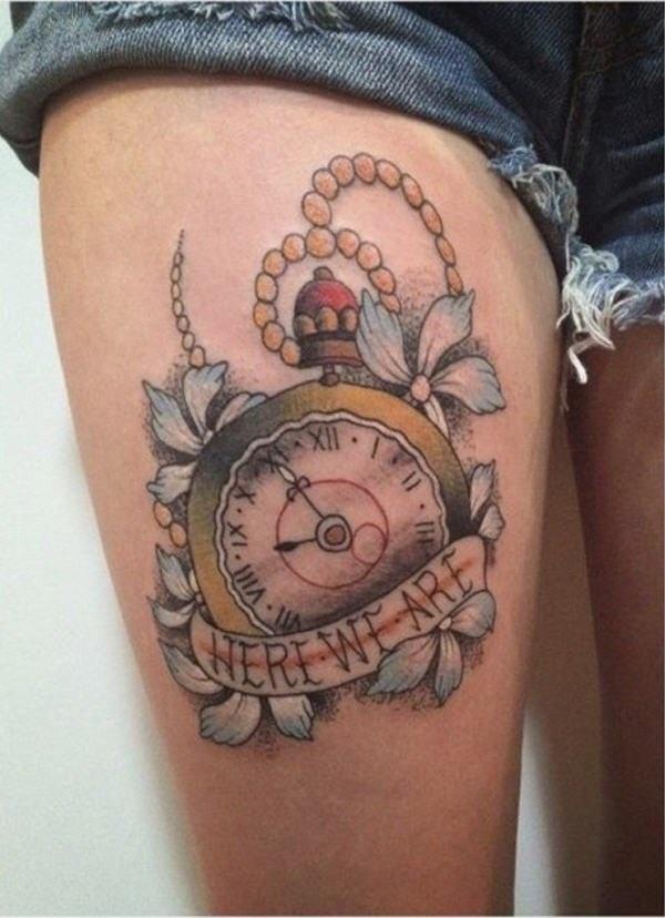 Upper Thigh Pastel Clock Piece
