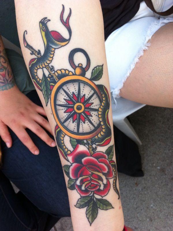 Serpent and Flower Clock Piece