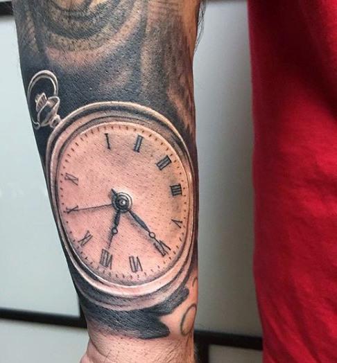 Clock Wrist Tattoo for Men