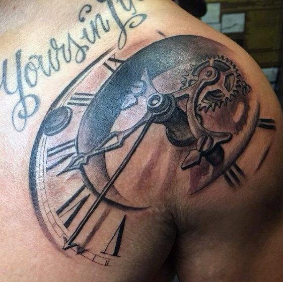 Faceless Clock Shoulder Piece