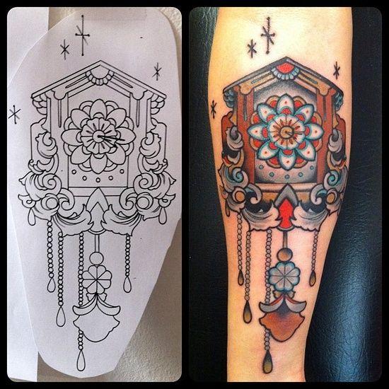 Hanging Wall Clock Tattoo