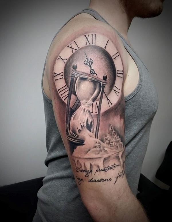 Clock and Hourglass Sandcastle Shoulder Piece