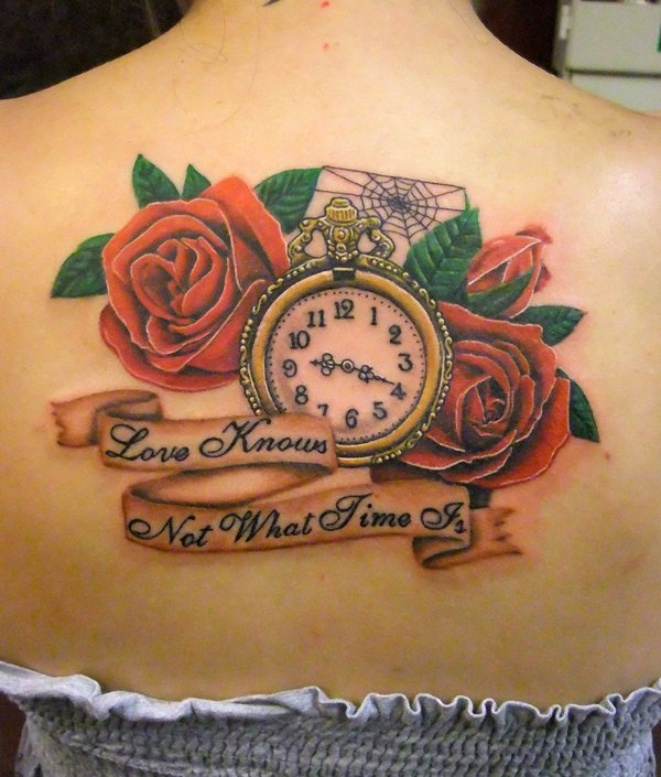 Alice in Wonderland Inspired Clock Back Piece