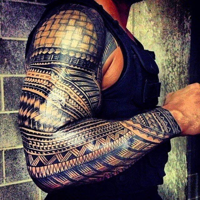 full sleeve tribal tattoos
