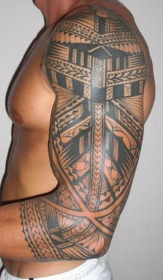 polynesian-tattoo-sleeve-samoan-tattoo