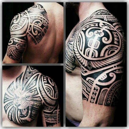 tattos-maori-tribal-lion-tattoo