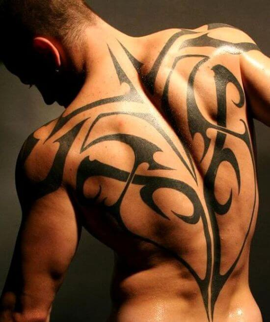 cool tribal tattoos back