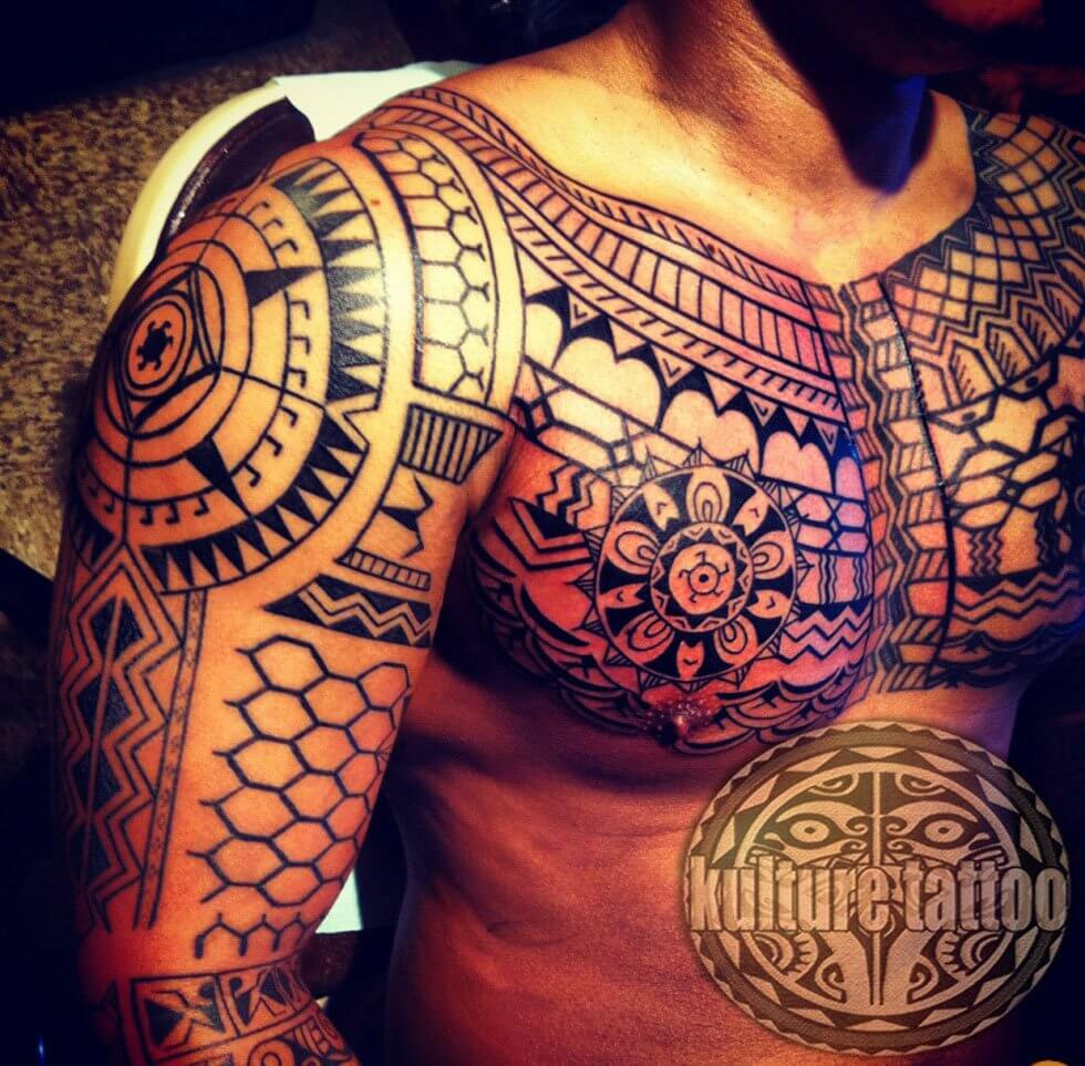 complex tribal tattoo