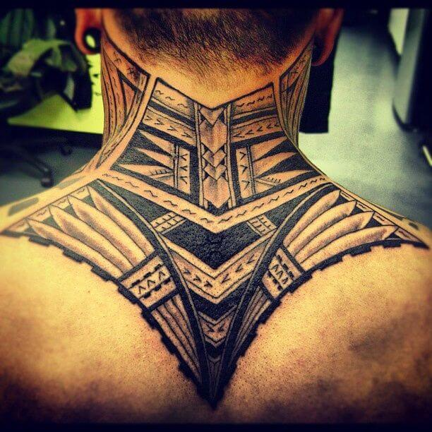 tribal tattoos for men upperback tattoo