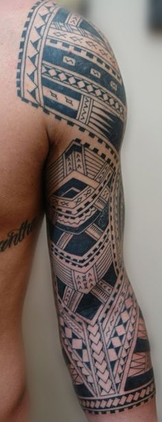 cool tribal sleeve tattoo for dudes