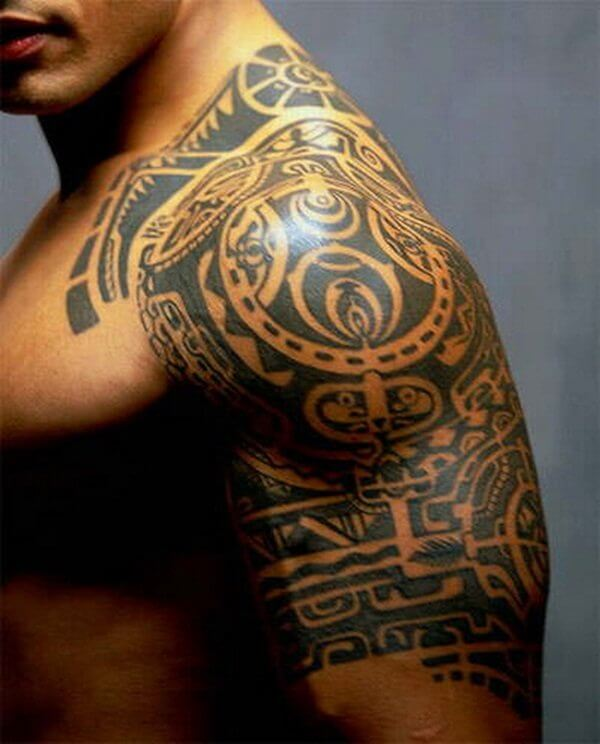 the rock tribal tattoo dwayne johnson