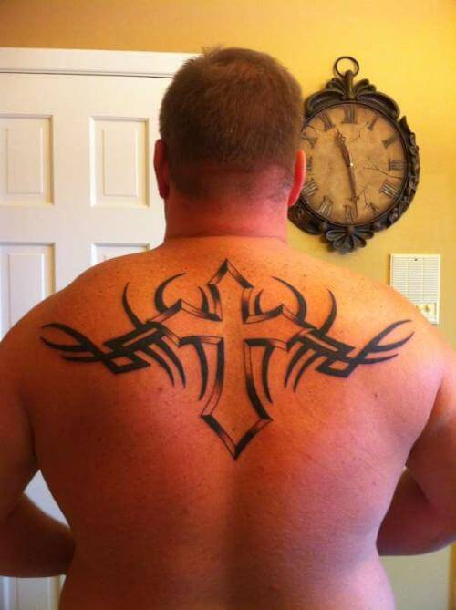 best cross tattoo tribal gallery for men
