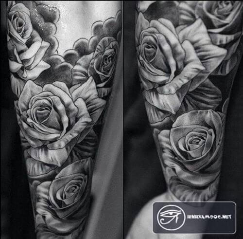rose-sleeve-tattoo-for-men-rose-tattoos-for-men