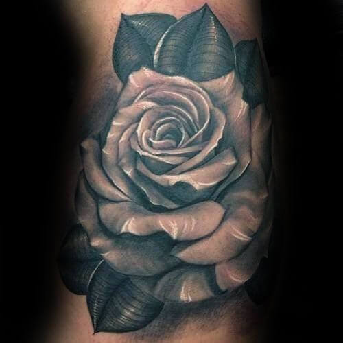 realistic rose tattoo designs for men floral ink ideas