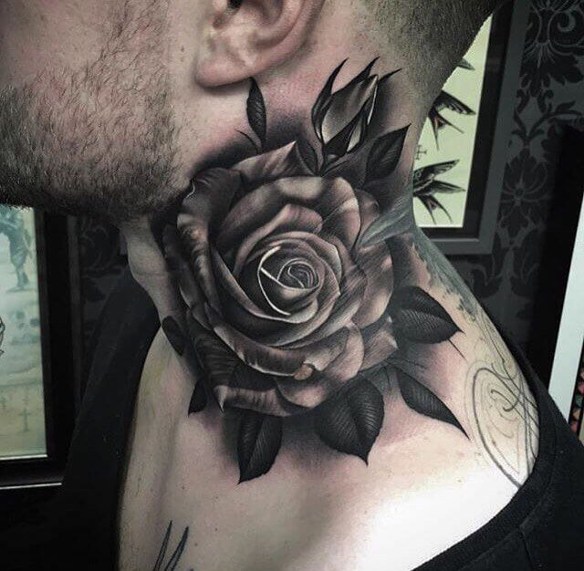 rose and hearts tattoo