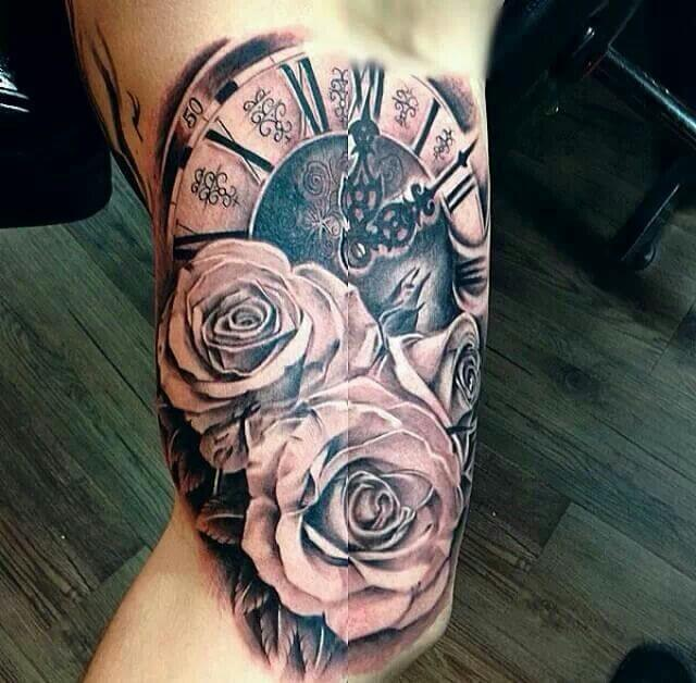 click and rose tattoo