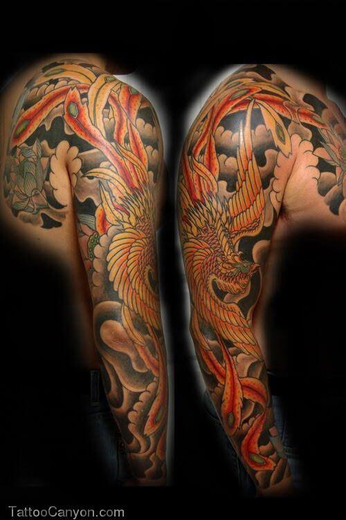 phoenix-tattoo-sleeve-phoenix-tattoo design
