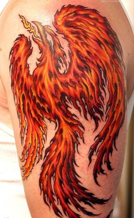 flaming tattos
