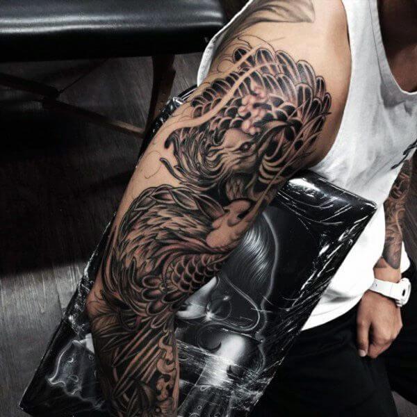 phoenix-tattoo-sleeve-phoenix-tattoos sleeve