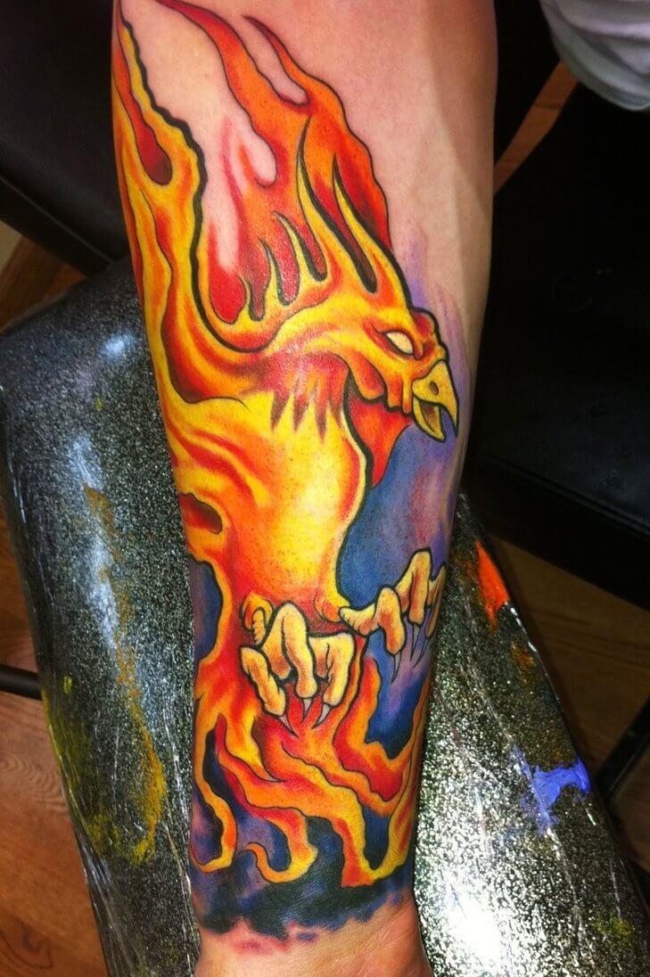 burning-phoenix-bird-tattoos-phoenix-tattoo-design