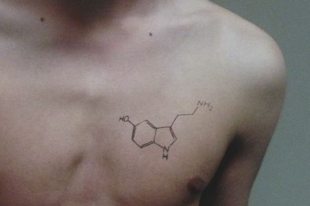 small science tattoo for men