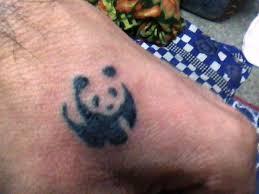 small panda tattoo for men