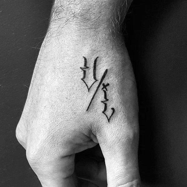 small letters tattoo for men