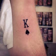 small king of spades tattoo for men