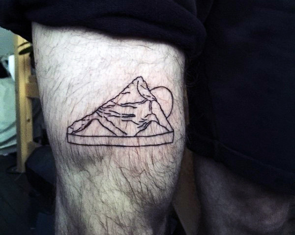 small mountain tattoo for men