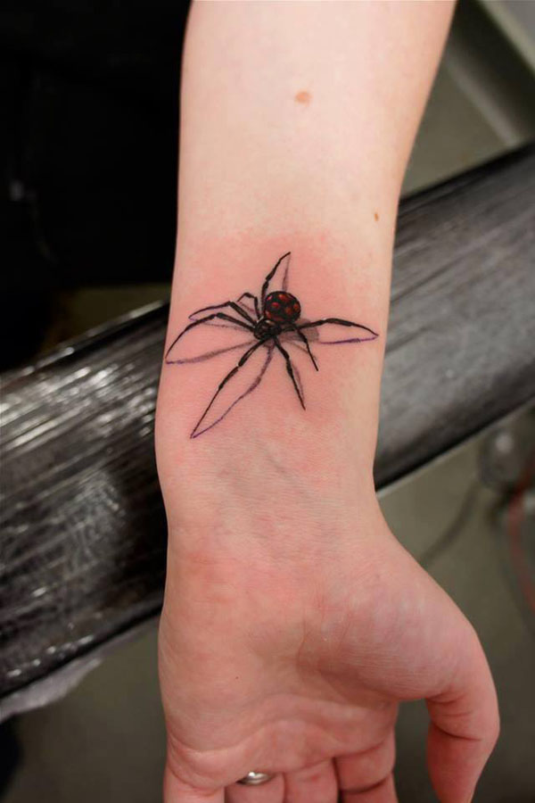 small spider tattoo for men