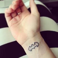 small batman tattoo for men