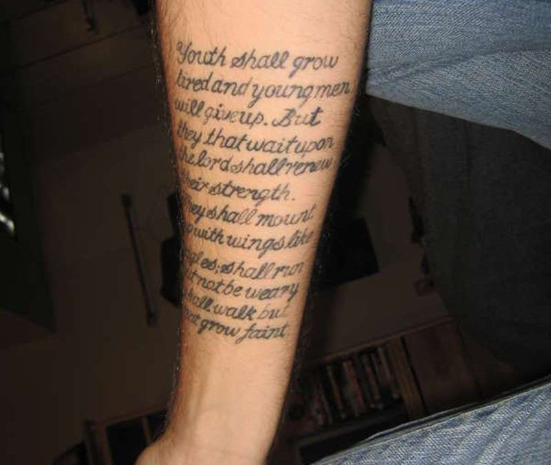 Bible Verse Tattoos On Bicep