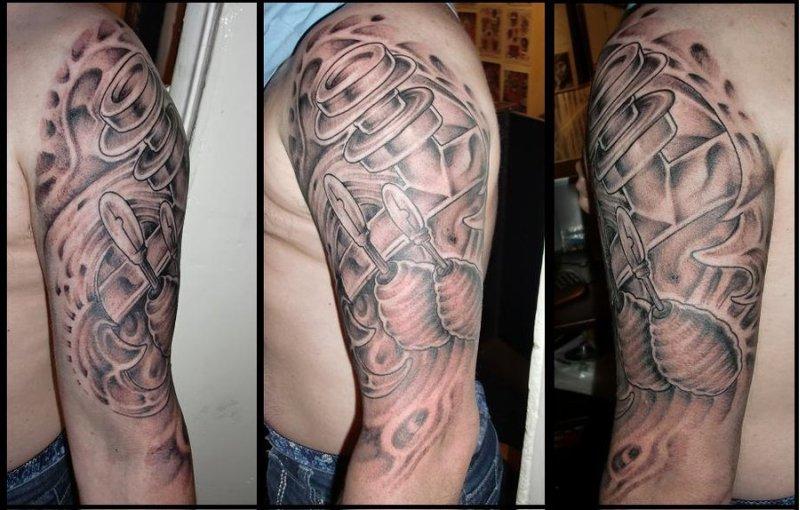 Biomechanical Tattoo Designs Half Sleeve