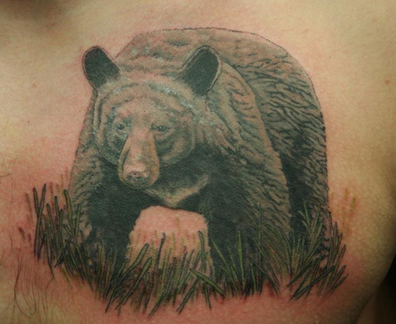 Black Bear Tattoo 2