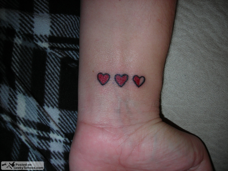 Black Heart Tattoo On Wrist